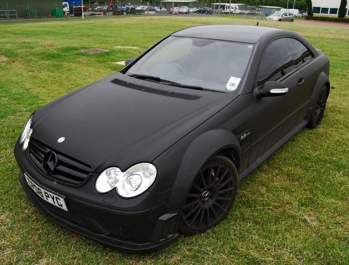 mercedes benz clk 63 black series matte black only cars and cars. Black Bedroom Furniture Sets. Home Design Ideas